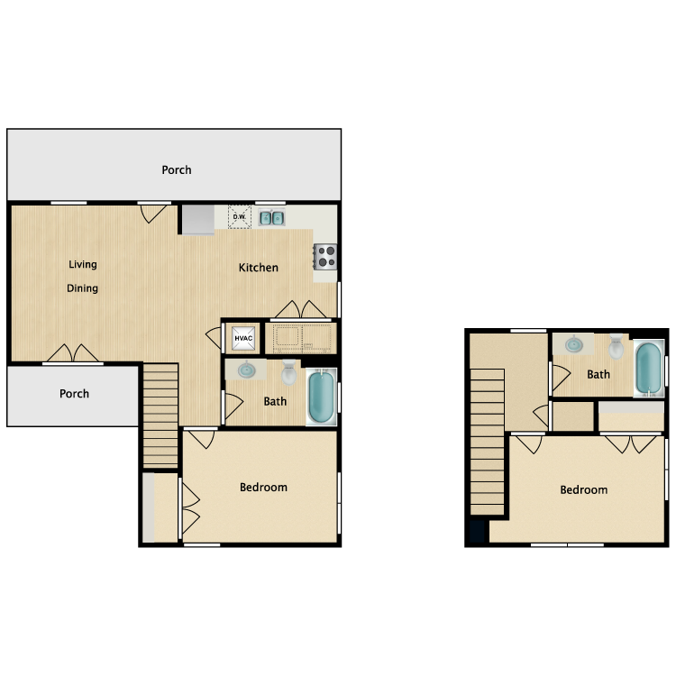 Floor plan image of 2Bb