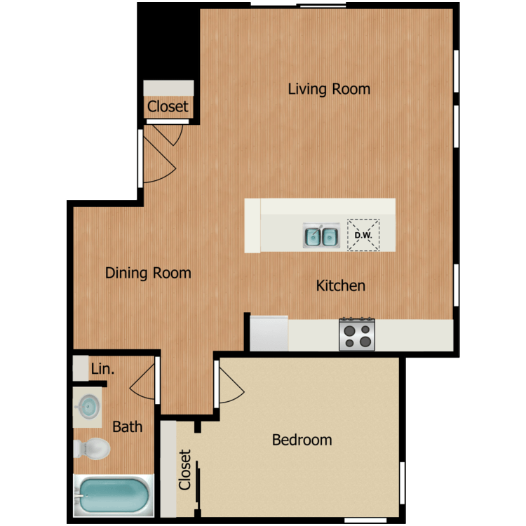 1B floor plan image