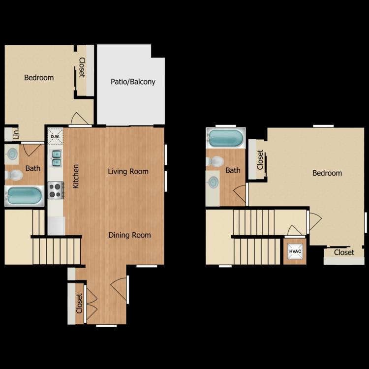 Floor plan image of 2B