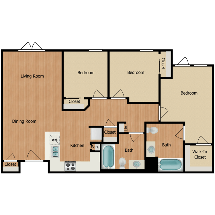 3C floor plan image