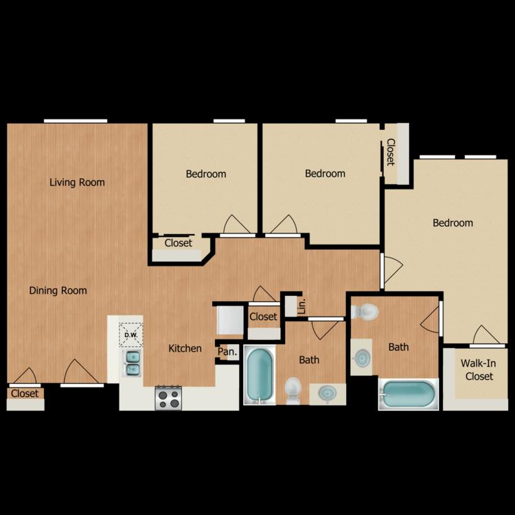 Floor plan image of 3C