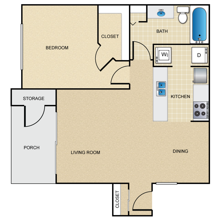 Floor plan image of 1