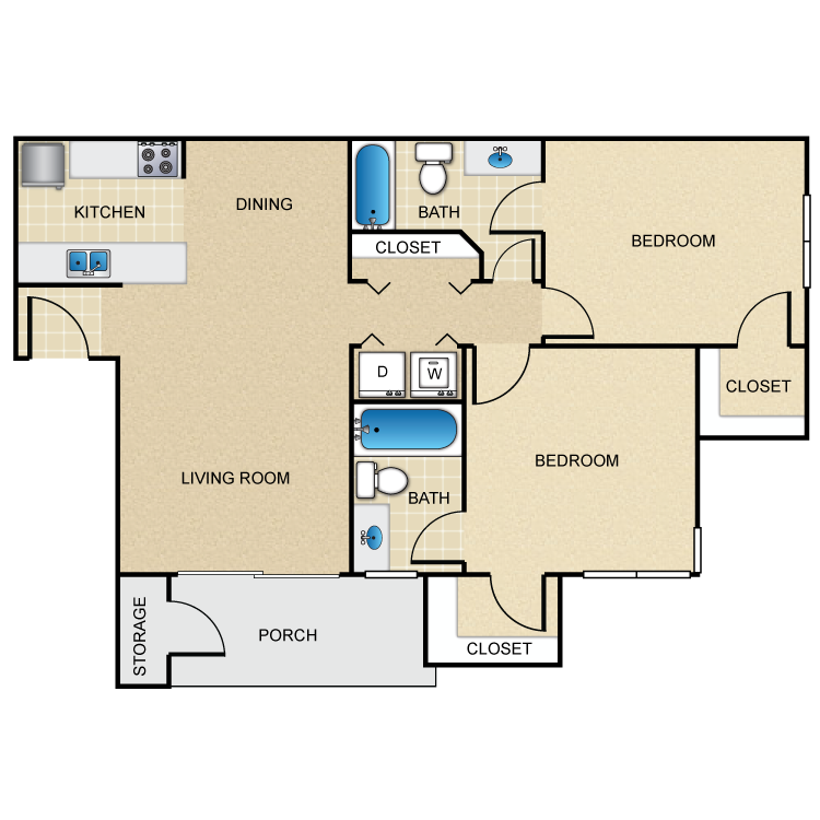 Floor plan image of 2A - Tax Credit