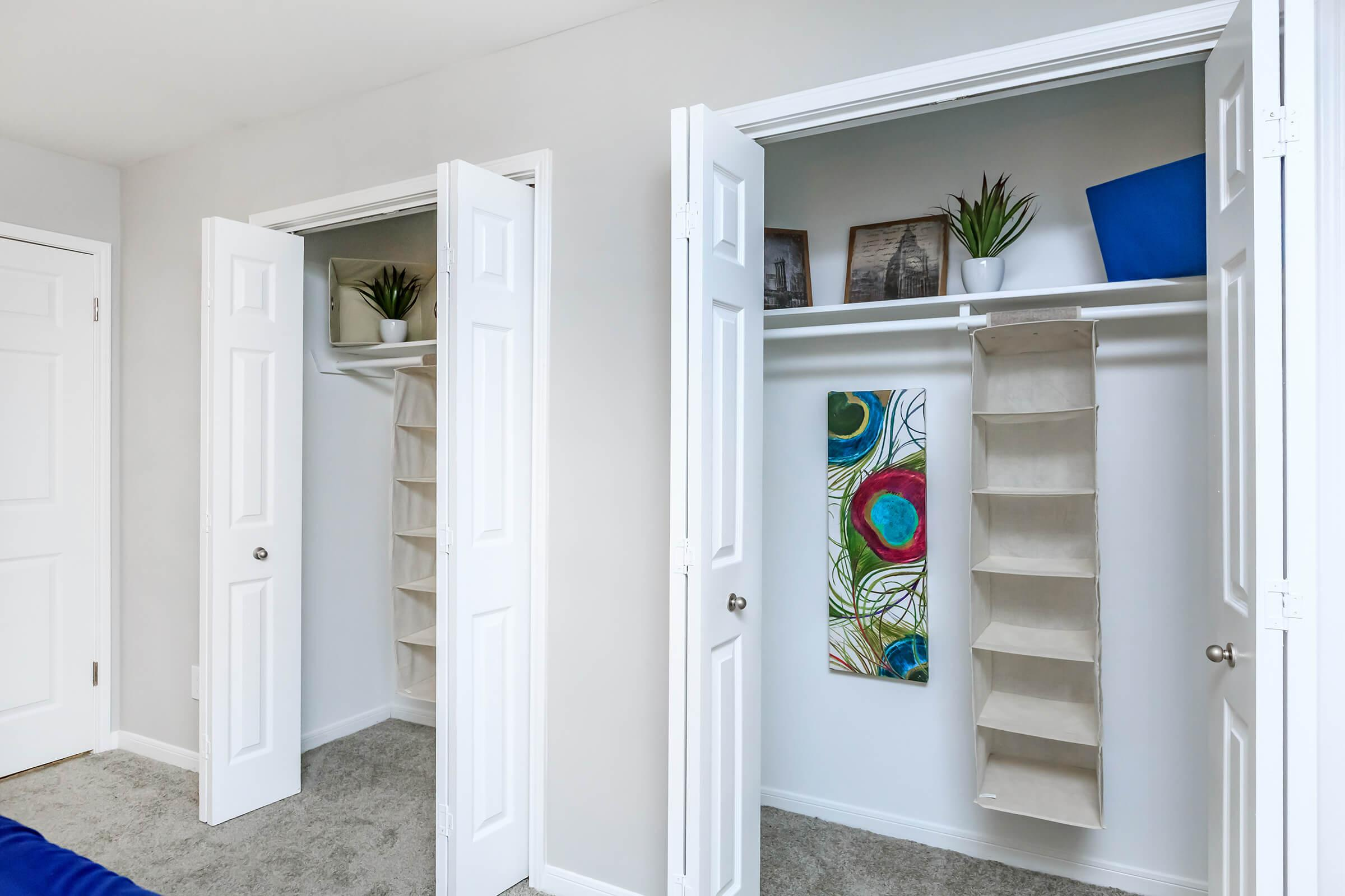 Large closets at Graymere in Columbia, Tennessee