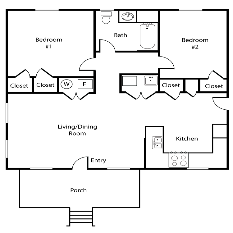Floor plan image of Colonial 5 - 2bed