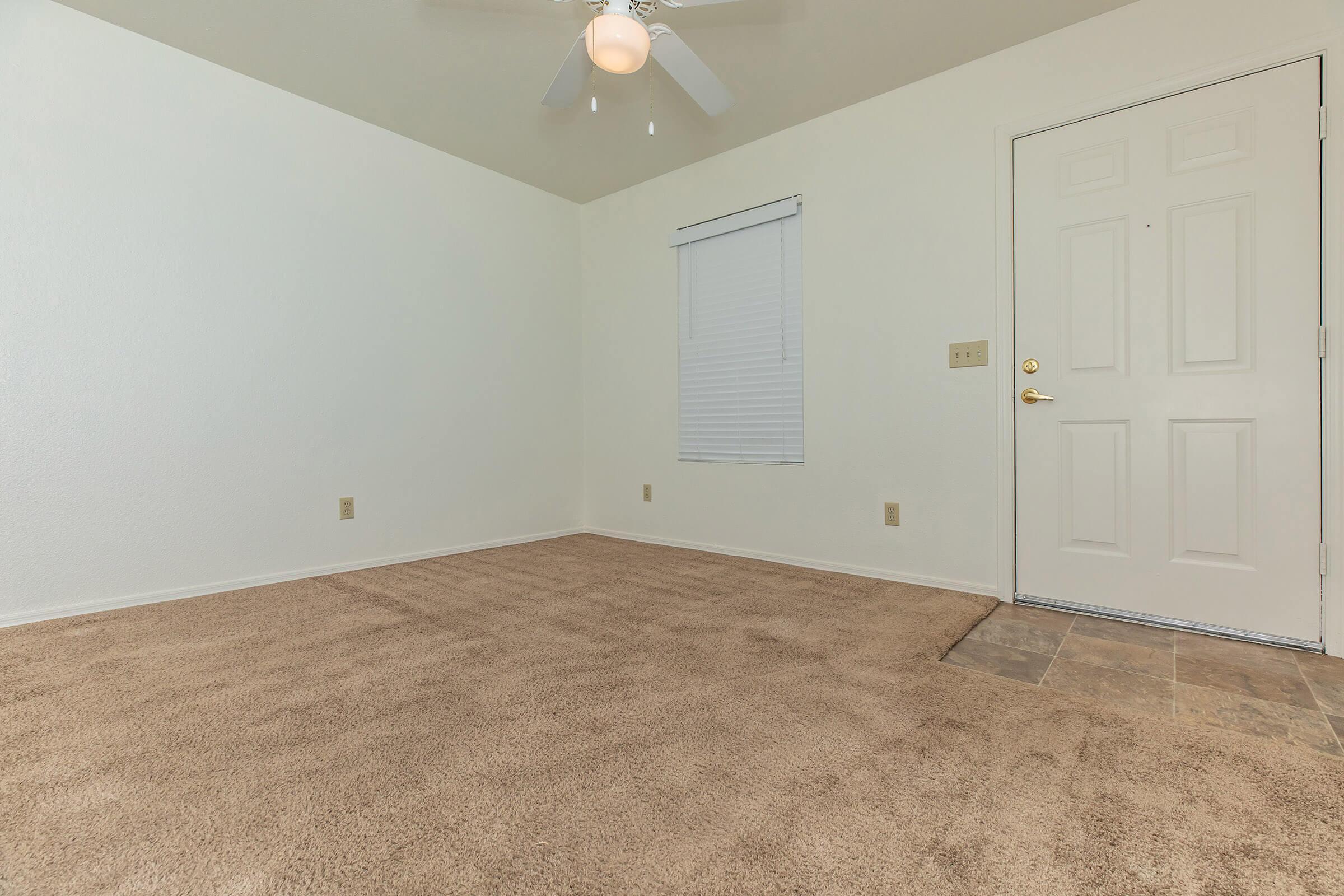 Vertical blinds - spacious floor plans