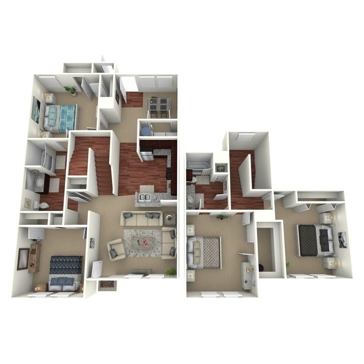 Floor plan image of 4 Bed 2 BathA