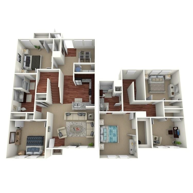 Floor plan image of 4 Bed 2 BathB