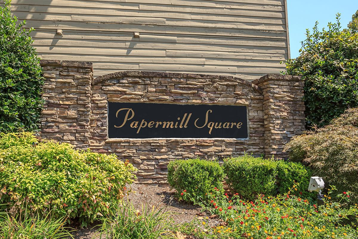 Papermill Square Apartments Monument Sign