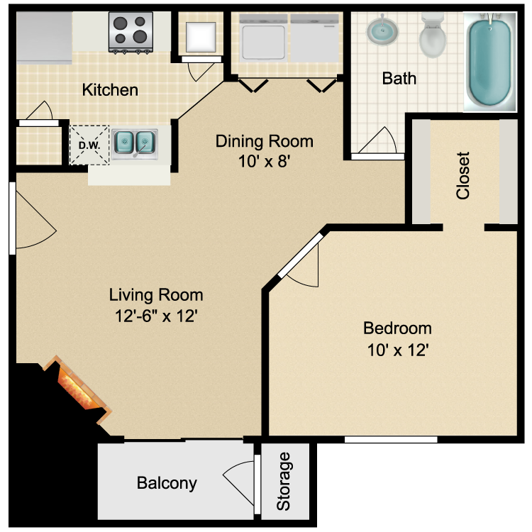 Floor plan image of Chelsea
