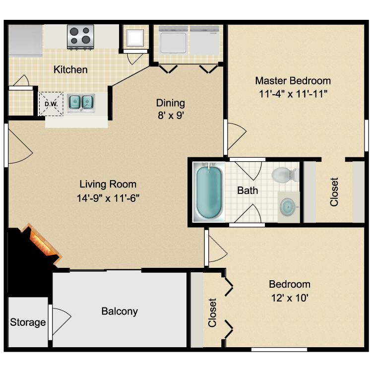 Floor plan image of Dakota