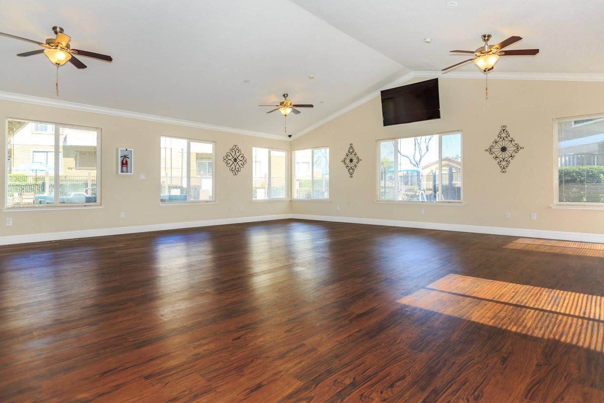 a view of a living room with a hard wood floor