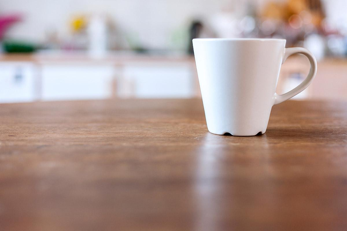 a cup of coffee on a table