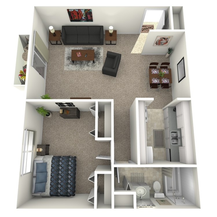 Floor plan image of The Graduate