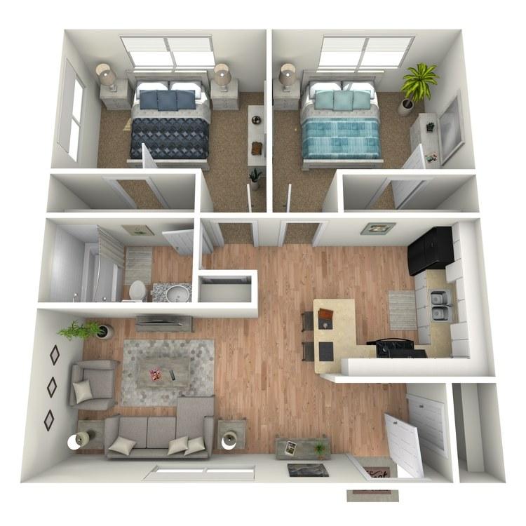 Floor plan image of B1A