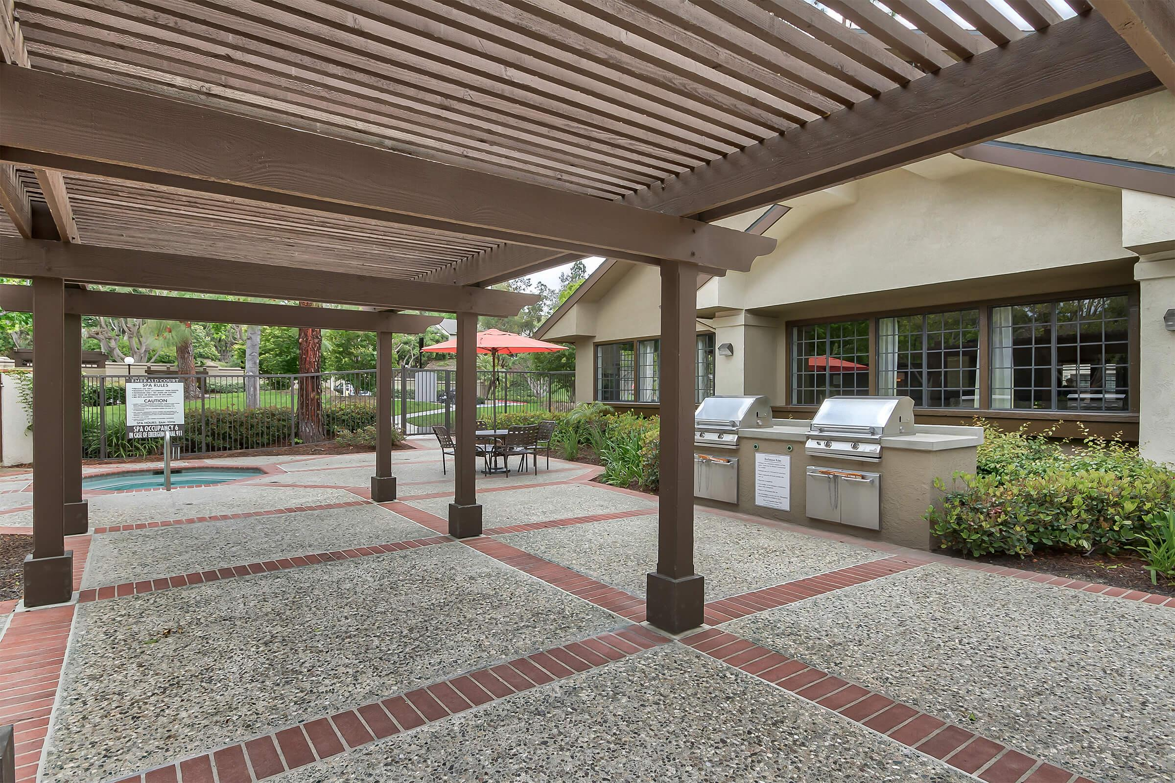 Stainless steel barbecues and the community spa