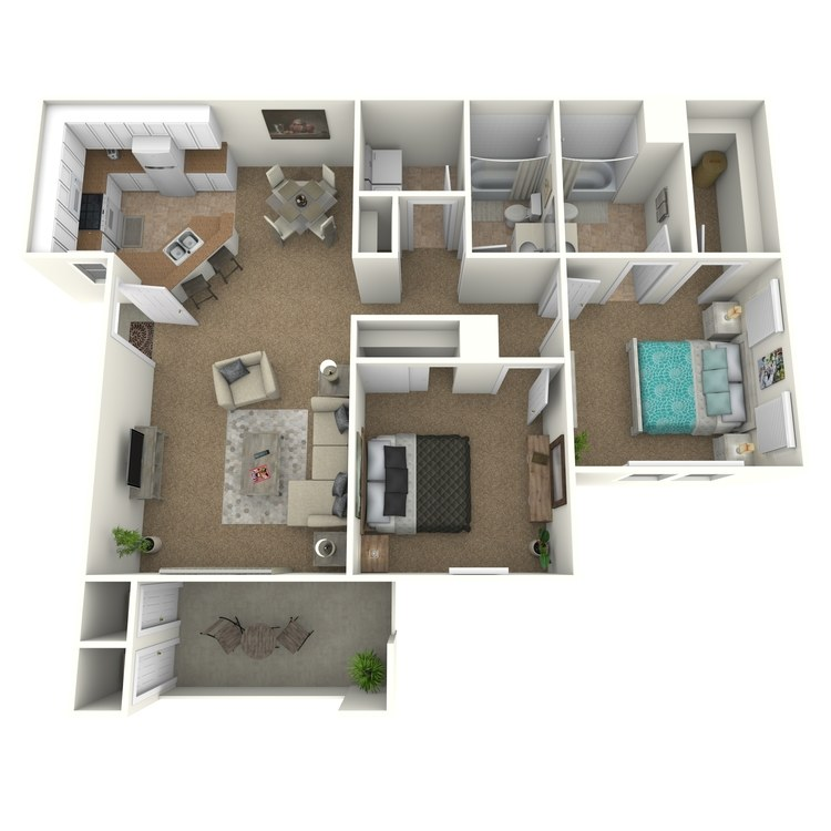 Floor plan image of Keck