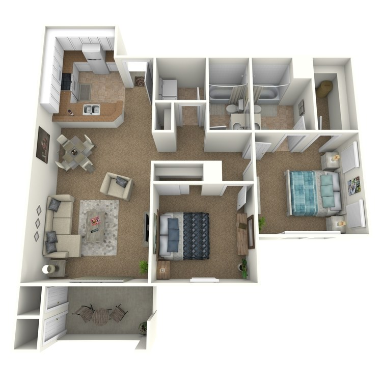 Floor plan image of Pitzer