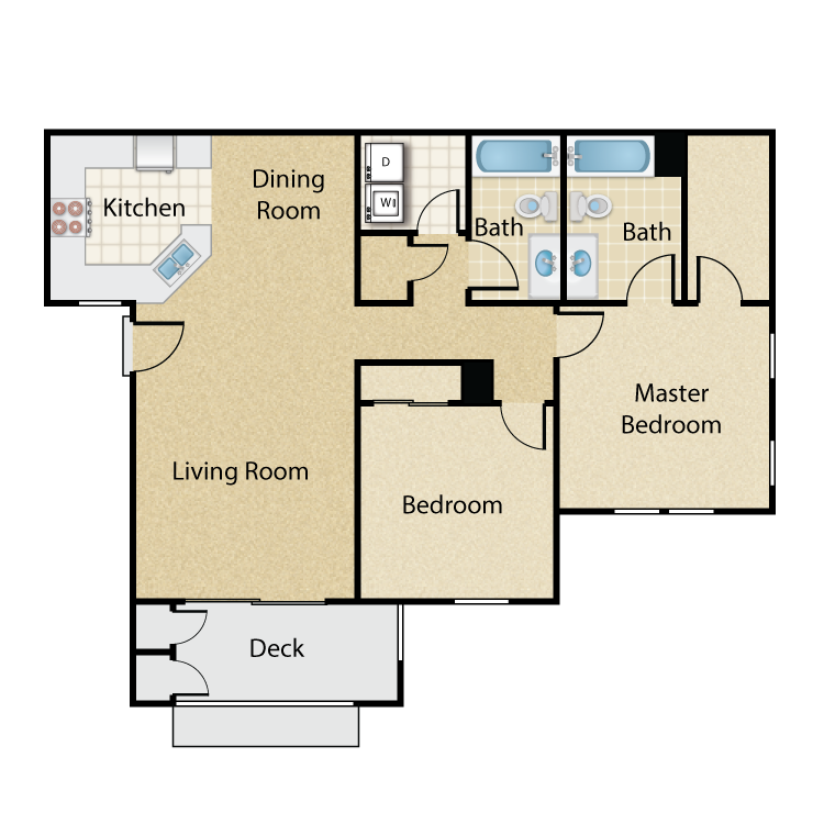Keck floor plan image