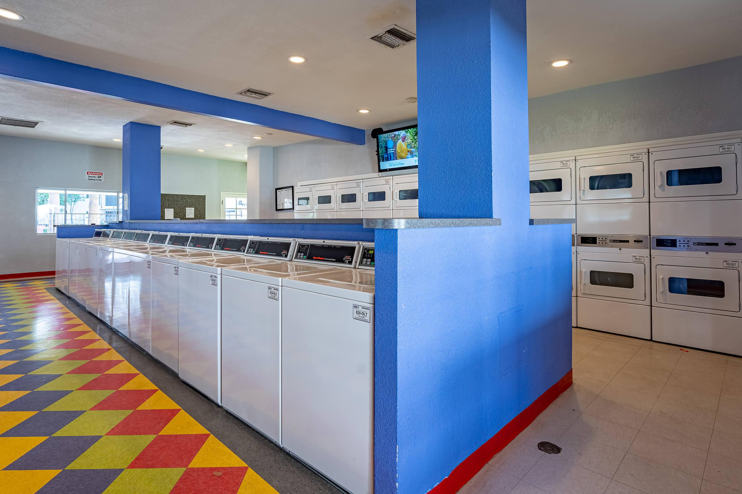 COLORFUL AND CLEAN LAUNDRY FACILITY