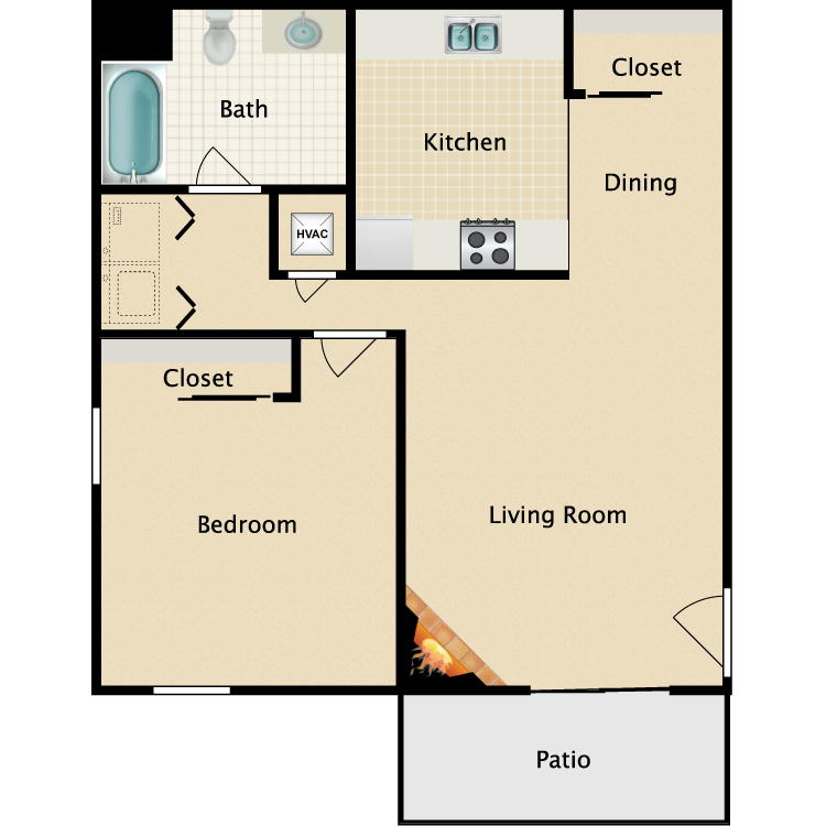 Floor plan image of A1