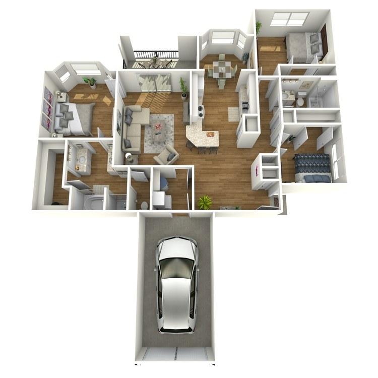 Floor plan image of San Saba