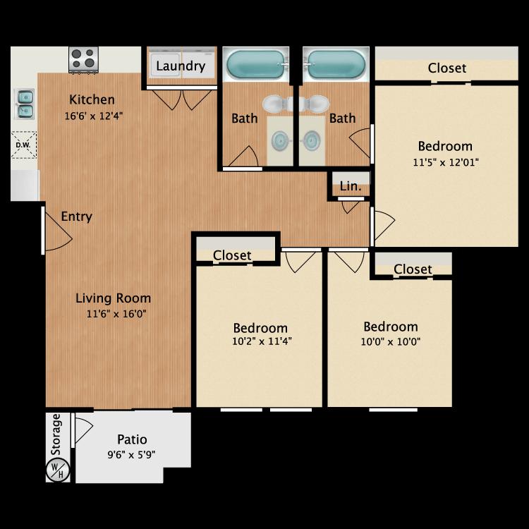 Floor plan image of Cadiz