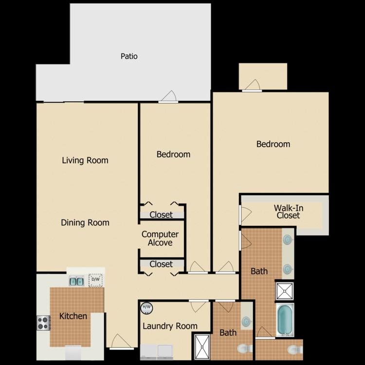 Floor plan image of Burlingame