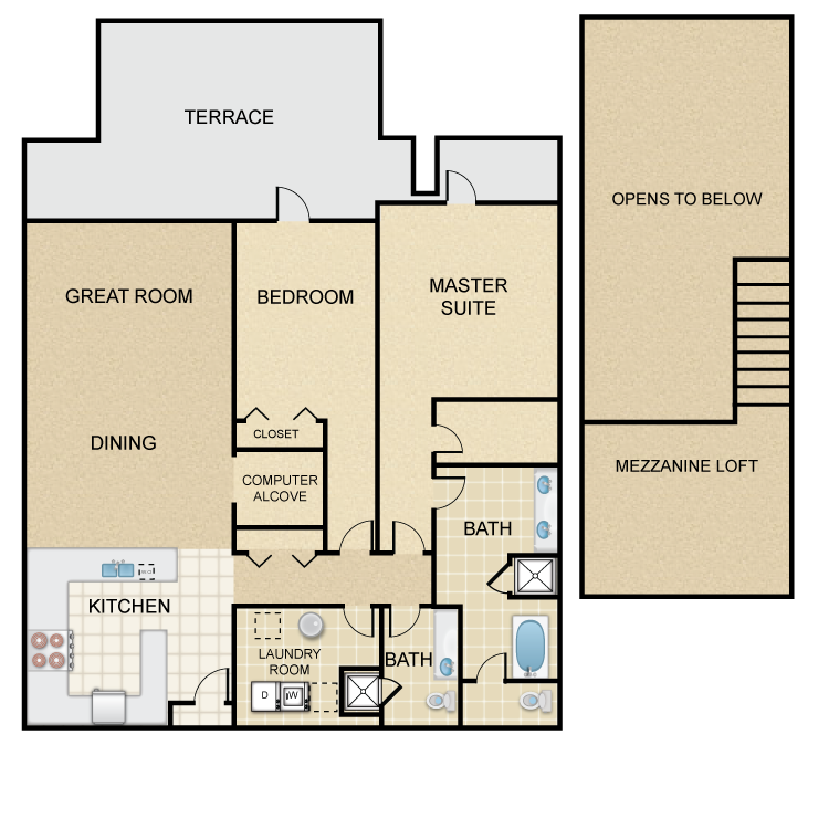 Floor plan image of Camden Villa