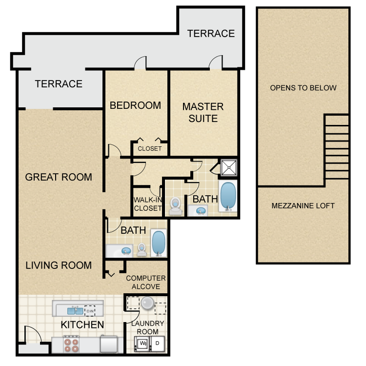 Floor plan image of Newbury Villa