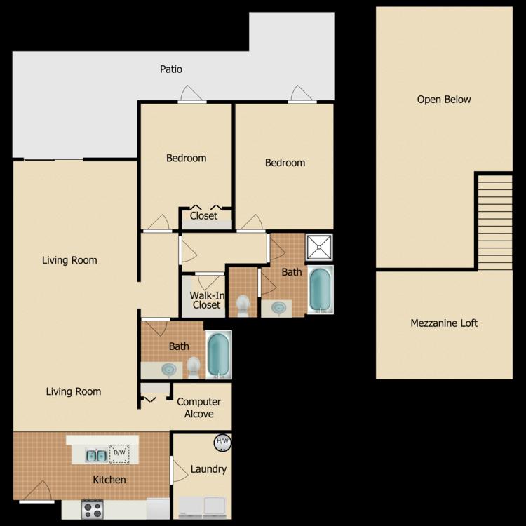 Floor plan image of Newbury Villa
