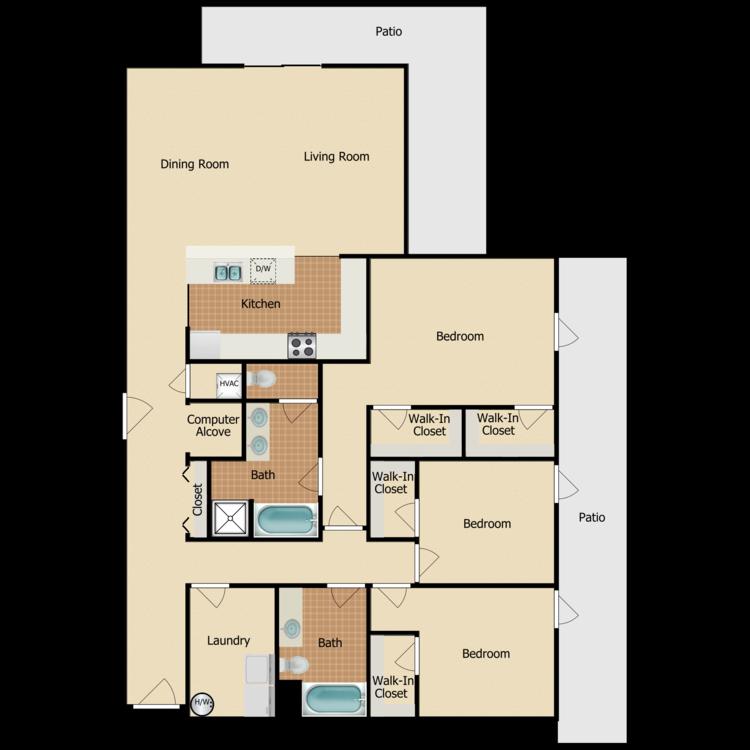 Floor plan image of Westboro