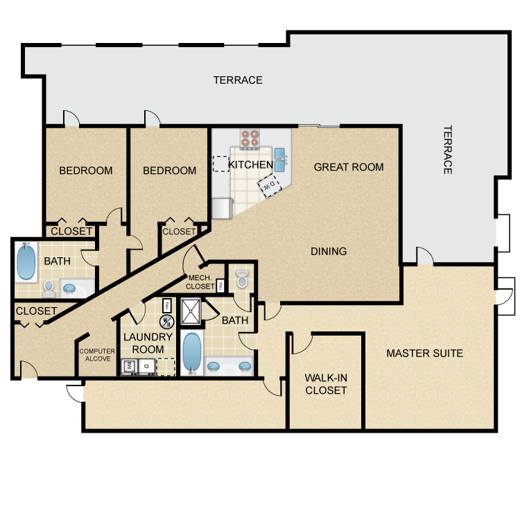 Floor plan image of Potrero