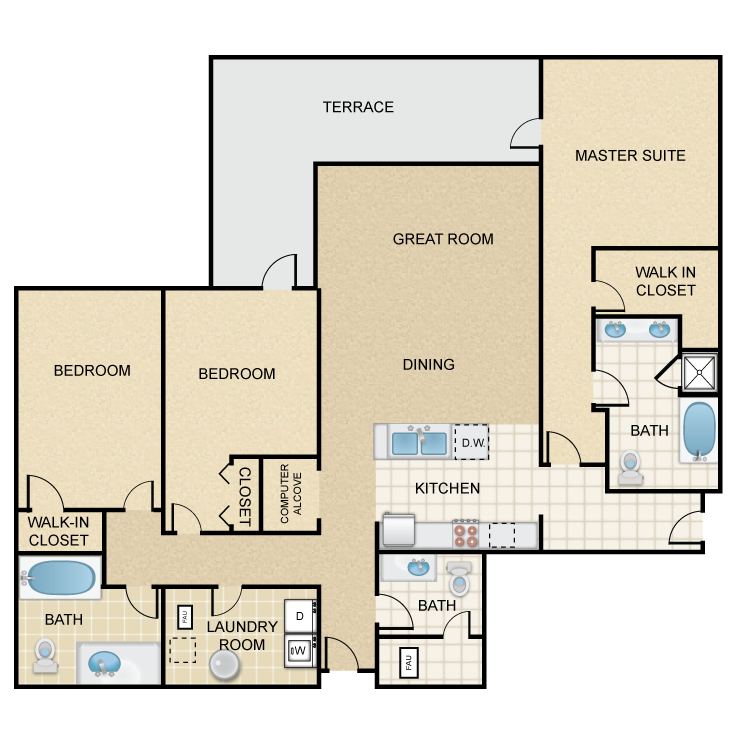 Floor plan image of Rockridge