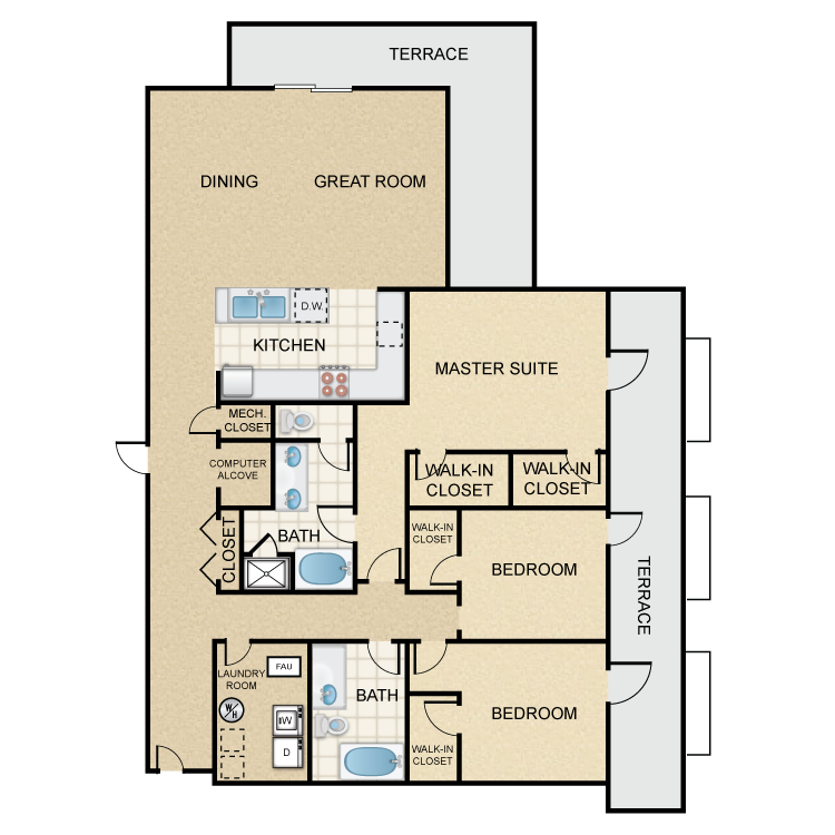 Floor plan image of Westboro