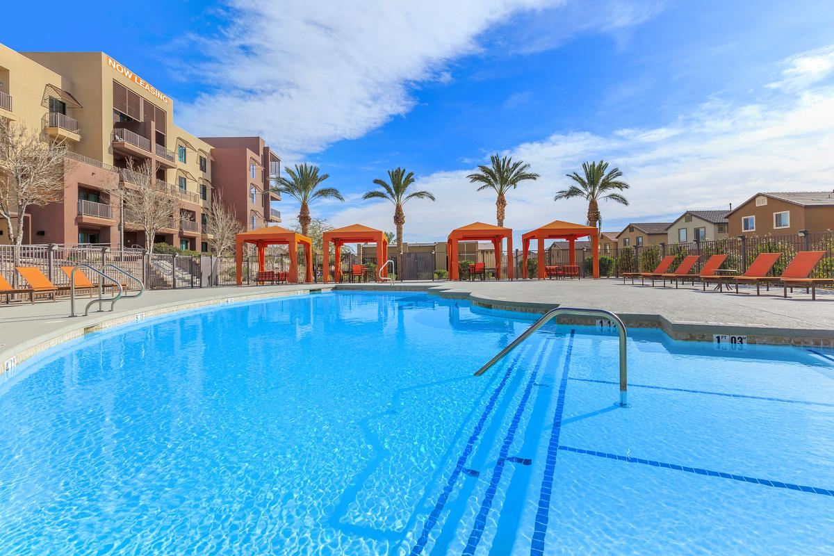This is the pool at Echelon at Centennial Hills