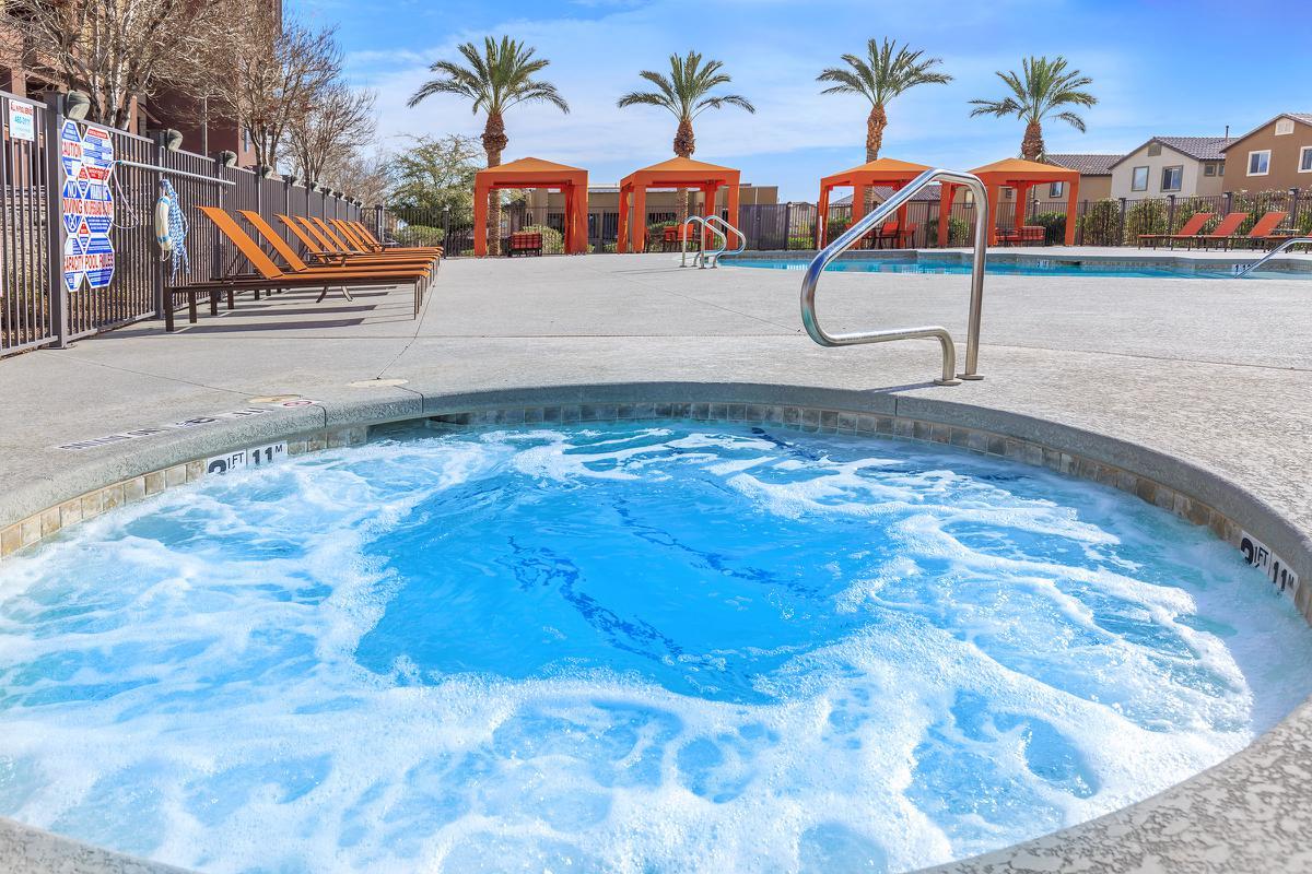 Year round heated spa at Echelon at Centennial Hills