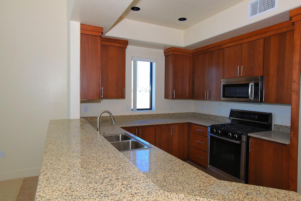 GORGEOUS UPGRADED CABINETS AND STAINLESS STEEL APPLIANCES AT ECHELON AT CENTENNIAL HILLS IN LAS VEGAS