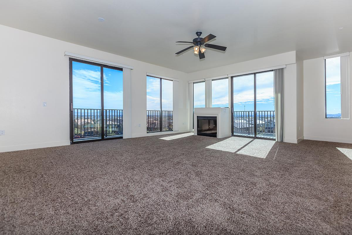 CARPETING, CEILING FANS, AND FIREPLACE AT ECHELON AT CENTENNIAL HILLS IN LAS VEGAS
