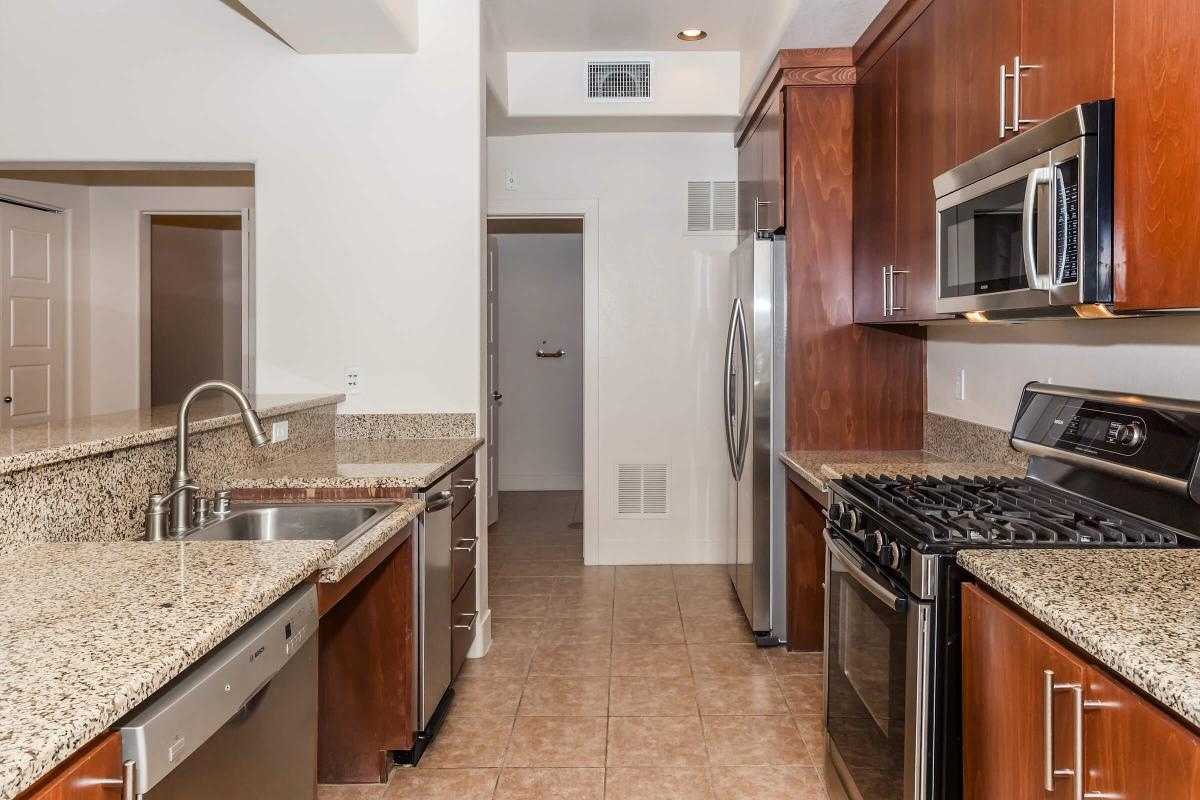 STAINLESS STEEL APPLIANCES AND GRANITE COUNTERTOPS AT ECHELON AT CENTENNIAL HILLS IN LAS VEGAS
