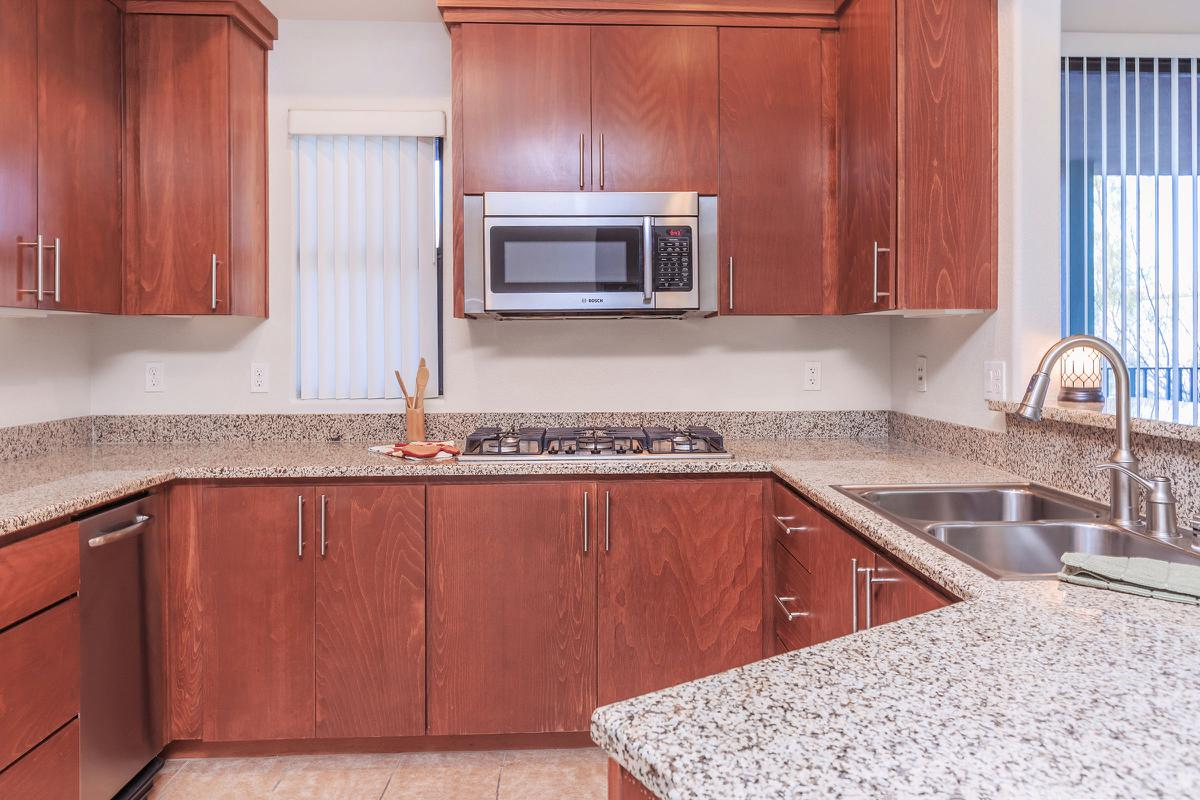 ECHELON AT CENTENNIAL HILLS IN LAS VEGAS HAS DESIGNER KITCHENS WITH STAINLESS STEEL APPLIANCES