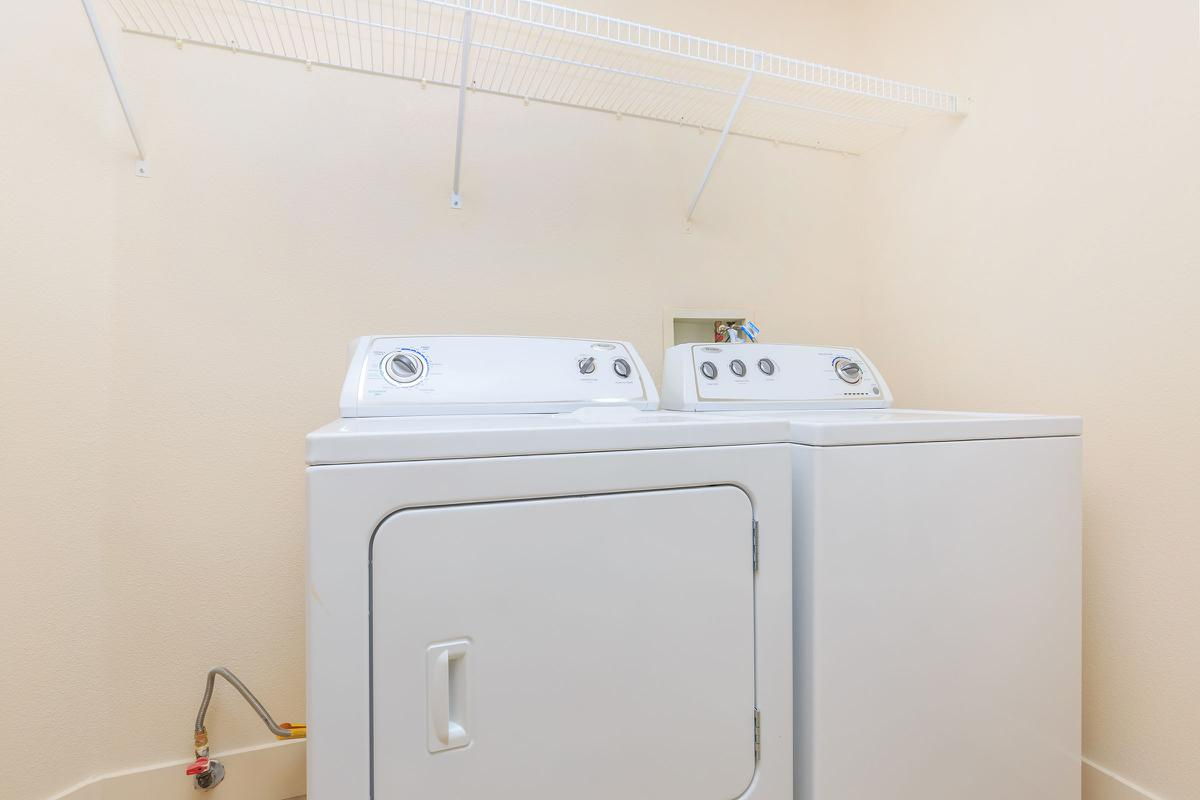 WASHER AND DRYER IN THE HOMES AT ECHELON AT CENTENNIAL HILLS IN LAS VEGAS