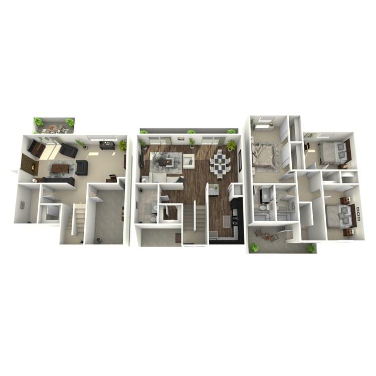 Floor plan image of Meadowbrook Plus