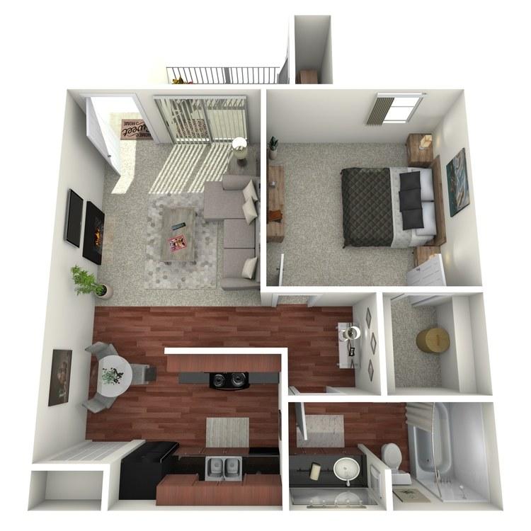 Floor plan image of One Bed
