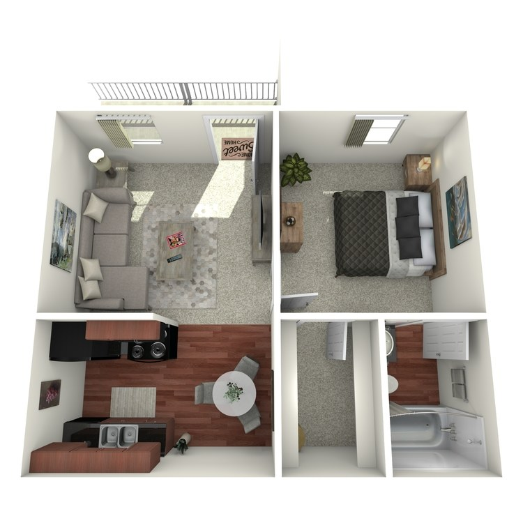 Floor plan image of Jr. One Bed