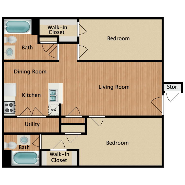 Floor plan image of The Fredericksburg
