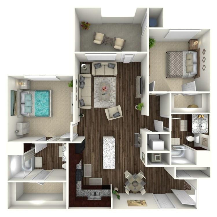 Floor plan image of Plan B3