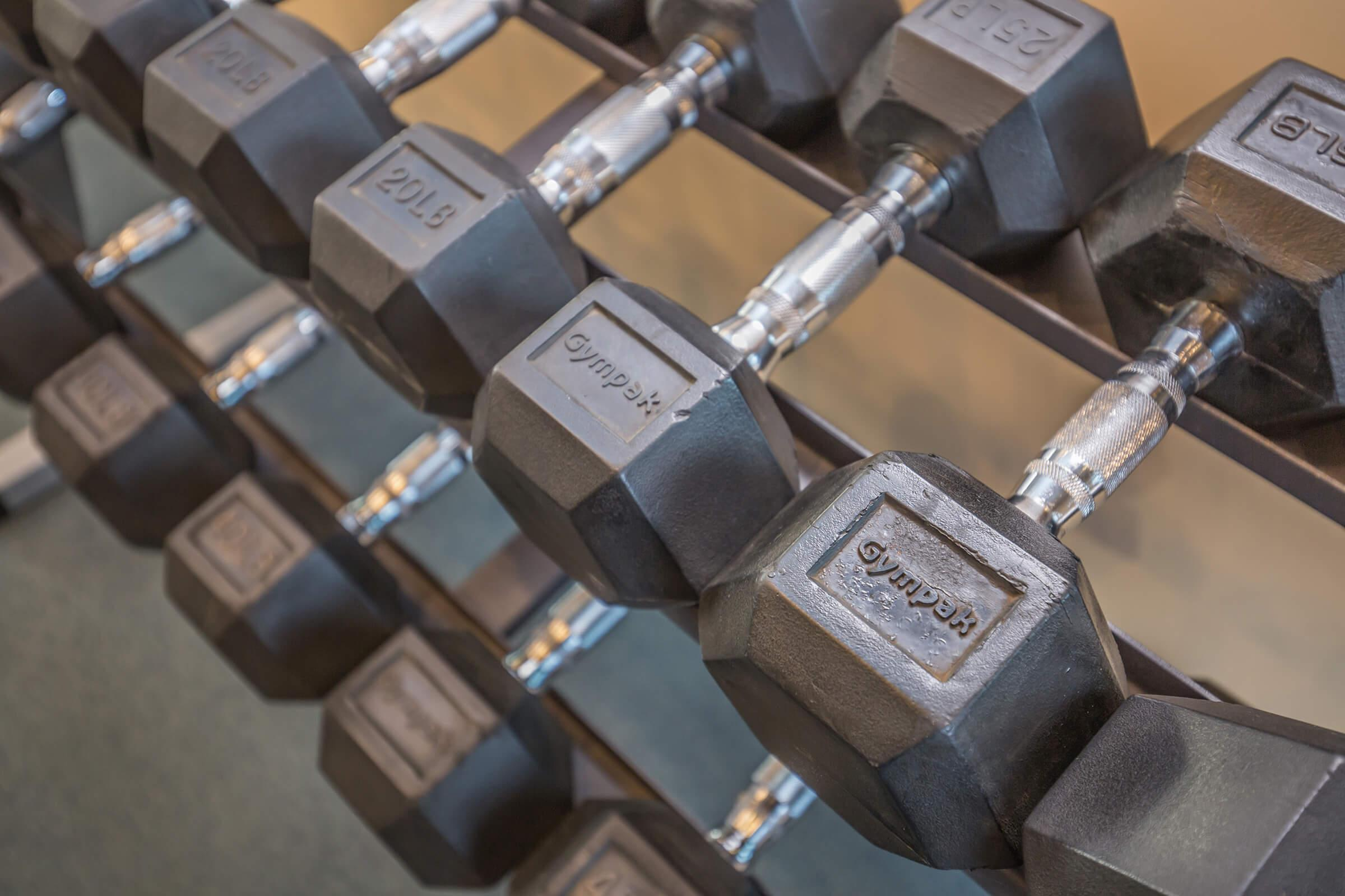 Close up of weights