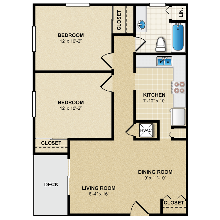 Floor plan image of B1 2 Bed