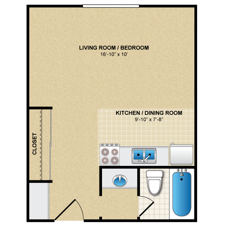 Floor plan image of Studio 2